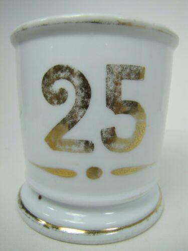 Antique HOTEL ROOM #25 SHAVING MUG Decorative Occupational Porcelain Gold B&B