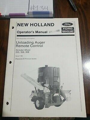 New Holland Unloading Auger Remote Control Grinder-mixer 355358359...