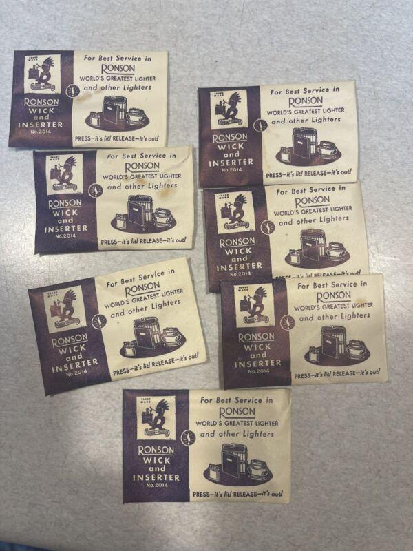 Vintage Ronson Lighter Wick & Inserter, Original Ronson Replacement Wick - NOS