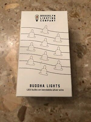 Brooklyn Lighting Company 36 LED Buddha Silver Wire Lights, Wire String Lights,