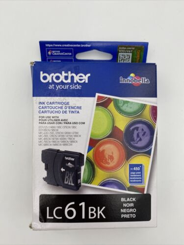 New Genuine Brother LC61BK Black Ink Cartridge Expired 12/20 FREE SHIPPING  - $13.50