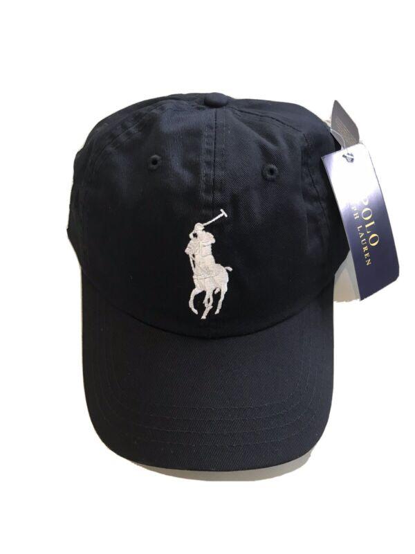 NWT POLO Ralph Lauren Men's Big Pony Baseball Cap Hat Black