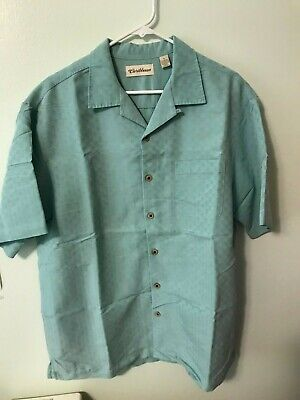Caribean Blue Sz Lg  short sleeve Hawaiian shirt