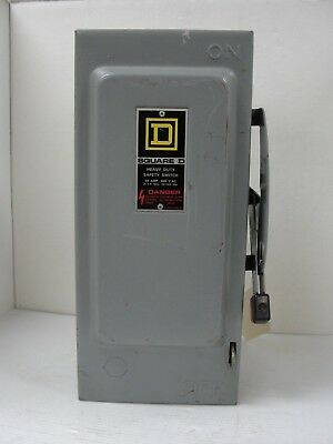 Square D Safety Switch H361 Series E1 30 Amp 600 V Ac Dc.