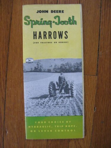 1955 John Deere spring tooth Harrow Brochure