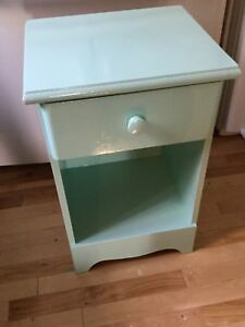 Light blue single bedside table- 1 available