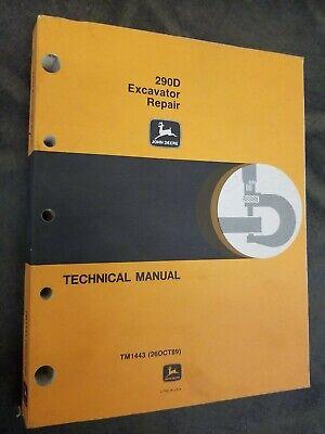 John Deere 290d Excavator Repair Technical Manual