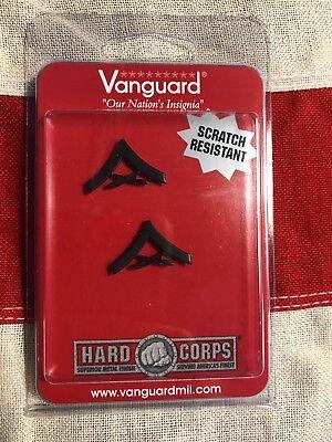 USMC Marine Corps Chevron Lance Corporal Insignia Black Metal Vanguard L/CPL