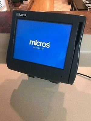 Micros Workstation 4 System Unit Ws4 Pos Touchscreen With Power Cord Stand