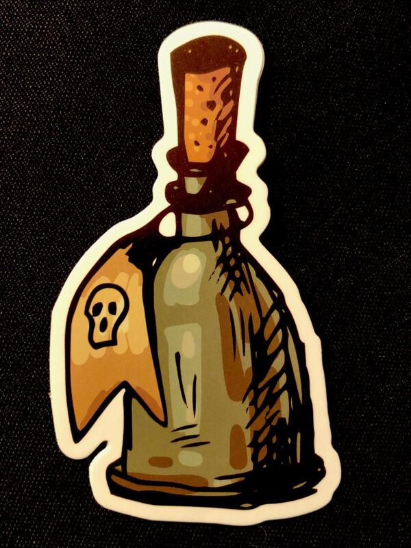 """Happy Halloween Sticker """"HAUNTED POISON"""" 🎃☠️🎃🕷 2"""" X 3 1/4"""""""