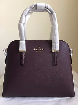 NWT Authentic Kate Spade Cedar Street Maise Handbag Purse  $298 Mahogany