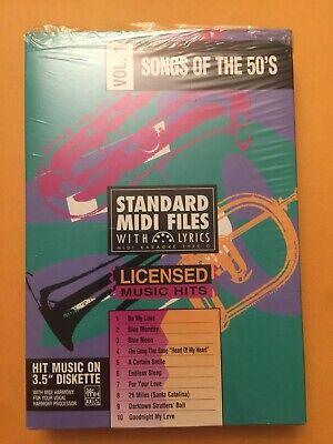 STANDARD MIDI FILES WITH LYRICS - LICENSED MUSIC HITS - 3.5 DISKETTE - (Midi Files Lyrics)
