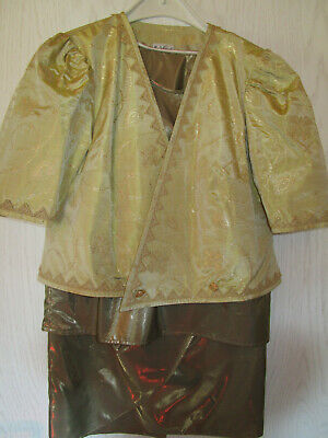 Kostüm Fasching Karneval Vintage Rock Jacke gold Goldene Zwanziger gülden - Zwanziger Kostüm