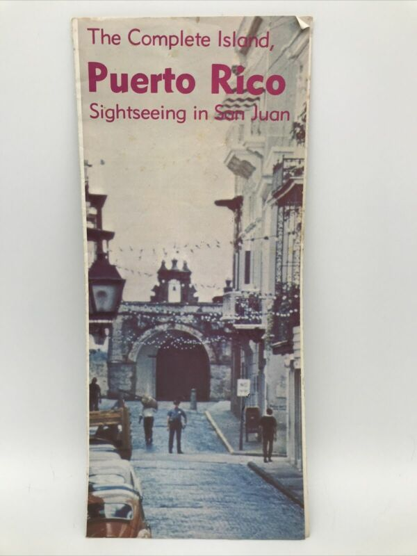 1978 THE COMPLETE ISLAND PUERTO RICO SIGHTSEEING IN SAN JUAN Tour Guide Brochure