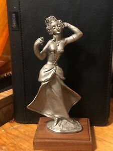 Solid Pewter statue ! Victorian style women!