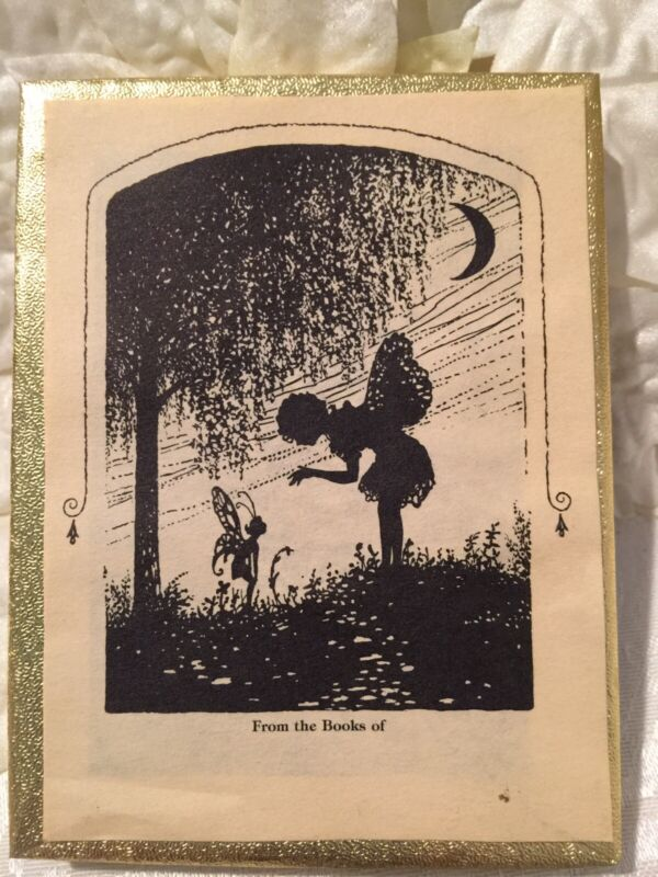 Vintage Antioch Bookplate From The Books Of Fairy Fairies Silhouette Set Box 50