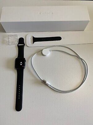 iWatch Series 2 42mm Space Gray Aluminium Case Sport Band WORKS!