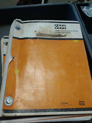 Case 780b Construction King Loaders Backhoe Parts Catalog 1405