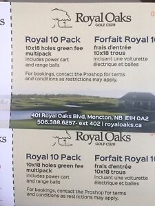Green Fees for 2 x 18 holes Royal Oaks moncton
