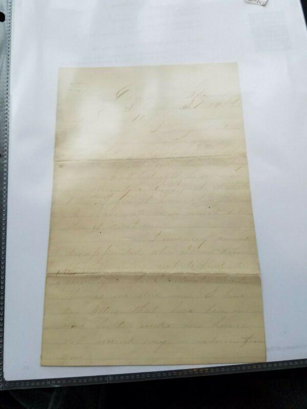 Civil War Letter, 140th PVI SGT O