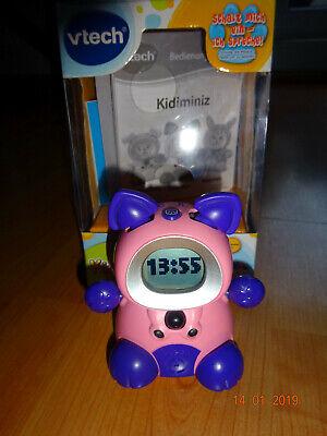 VTech Kidiminiz Kätzchen pink elektronisches Haustier Wecker Lernspiele Kommunik (Kätzchen Wecker)