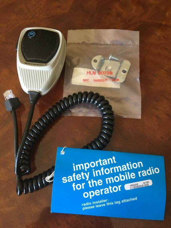 MOTOROLA HMN1056D COMPACT MICROPHONE NEW, includes HLN9073B HANG UP CLIP