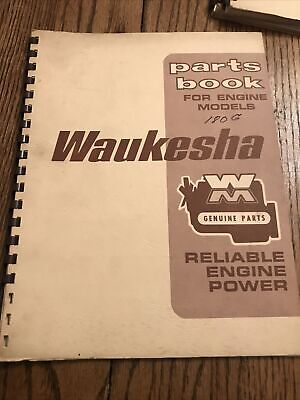 Waukesha Parts Book For Engine Models 180 G
