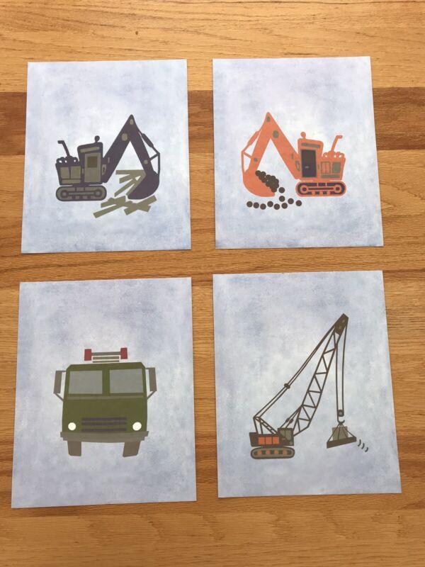 Pottery Barn Kids Construction Art Prints