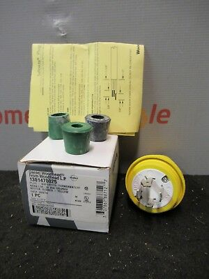 Woodhead 1301470025 Watertite Plug Neotex Rubber Yellow Nema L14-20 20a 125-250v