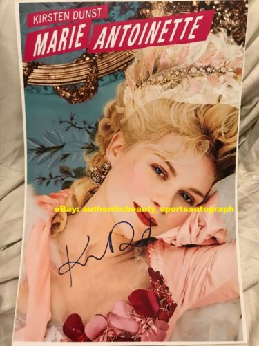 KIRSTEN DUNST MARIE ANTOINETTE BIOPIC SEXY MOVIE POSTER SIGNED 12x18 REPRINT RP
