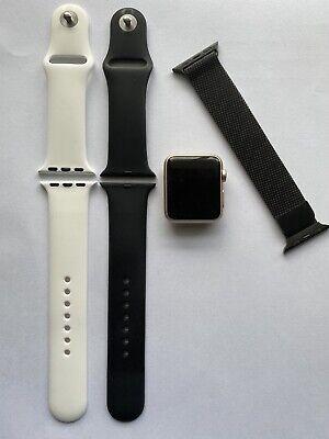 Apple Watch Gen 1 38mm Gold Aluminium Case Series w/ Extras - FAST FREE SHIPPING