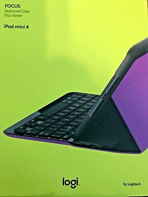 Logitech FOCUS Protective Case with Integrated Keyboard for iPad Mini 4, Violet