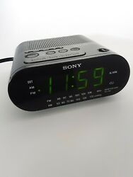 Vintage Black Sony DREAM MACHINE AM FM Dual Alarm LED Clock Radio