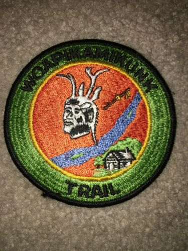 Boy Scout BSA Woapikamikunk Anderson Indiana Hiking Merit Badge Trail Patch