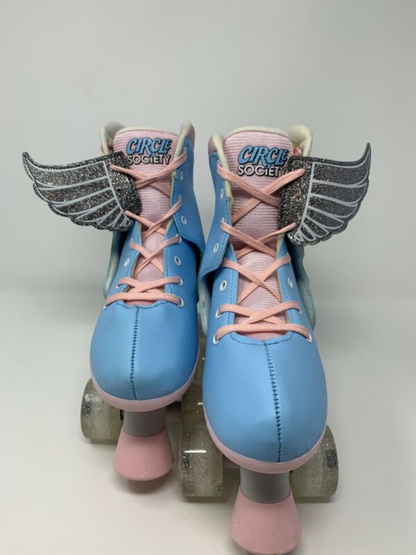 Circle Society Adjustable Roller Skates Classic Cotton Candy Girls/Youth 3-7 NEW