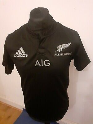 Adidas All Blacks Team Jersey  Rugby New Zealand AGED 13-14 YEARS
