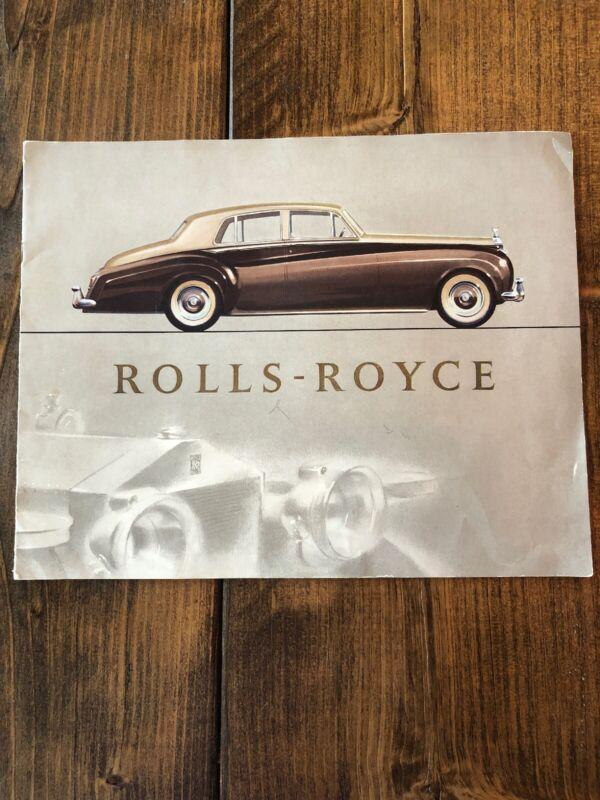1955-1958 Rolls Royce Silver Cloud Brochure. Mint!