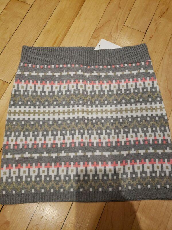 NWT Girls H&M Sweater Skirt, Size 6-8, Gray