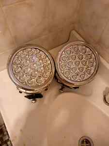 x2 18 LED great white driving lights (chrome) Trangie Narromine Area Preview