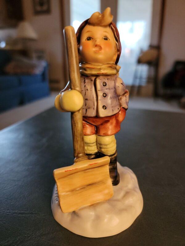 "Goebel Hummel ""LET IT SNOW"" #2036  1st Issue  Boy With Shovel"