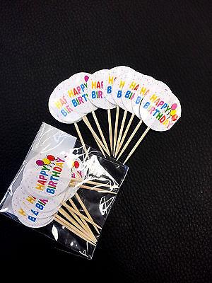20x Muffinpicker Cupcake Muffin Deko Happy Birthday Babyparty Geburtstag Geburt