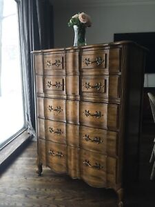 Delivery - antique French country tallboy dresser