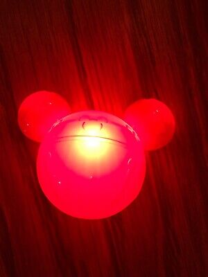 Disney 2019 Christmas Holiday Jingle Bell Glow Cube Red Red Jingle Bell