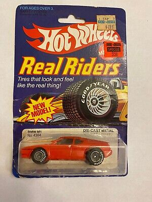 Hot Wheels BMW M1 Real Riders Series #4364 Never Removed from Pack 1982 Red 1:64