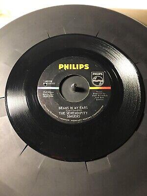 The Serendipity Singers Beans In My Ears & Sailin' Away 45 Record (The Serendipity Singers Beans In My Ears)