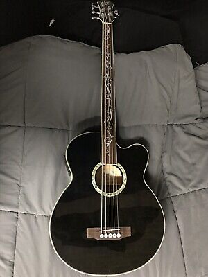 Michael Kelly Dragonfly Bass 5 String Fretless Acoustic Electric Bass Guitar