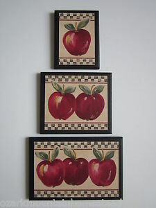 Apple signs kitchen wall decor 3 country farm house style for Apples for decoration