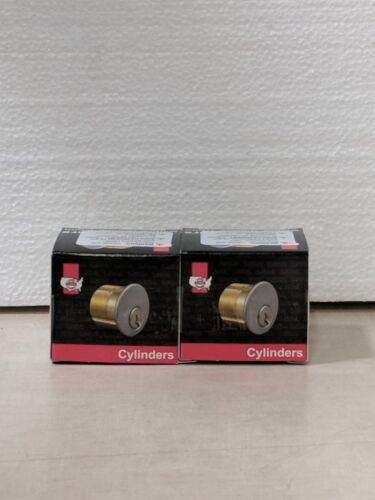 Lot of 2,  1-1/8 inch Brass mortise cylinder m1181scc26d
