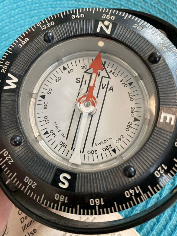 Vintage Silva Nautical Marine Compass. Made In sweeten. NICE