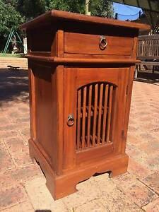 Wooden bedside cabinet Mount Hawthorn Vincent Area Preview